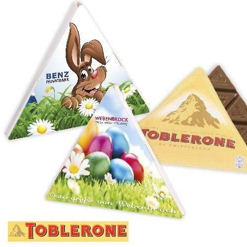 Grußkarte mit Toblerone Dreieckstafel