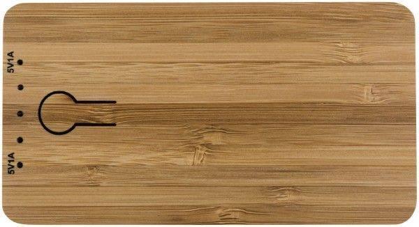 Prämienartikel-Powerbank 5000 Bamboo