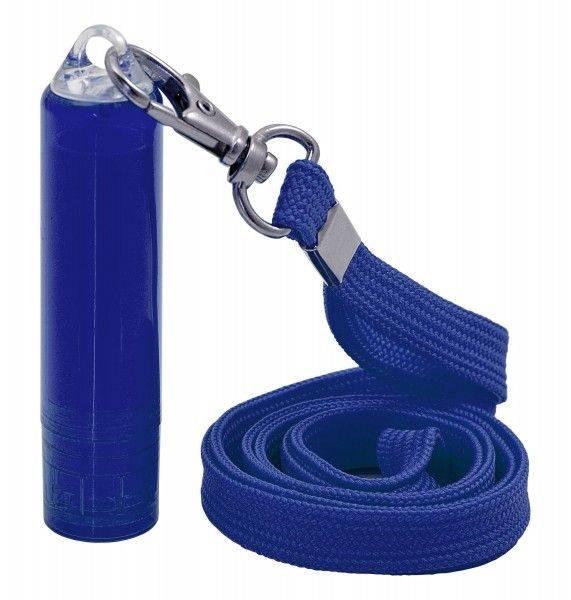 Schlüsselband mit Lippenpflegestift bedrucken, dunkelblau