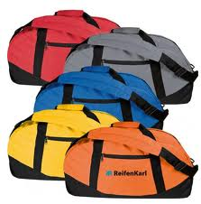 Schlichte Werbe-Sporttaschen aus Stoff