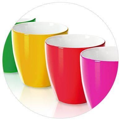 Verschiedene Farbige Tassen