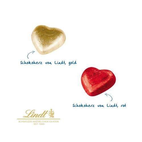 Werbe-Briefchen mit Schokoladenherz von Lindt