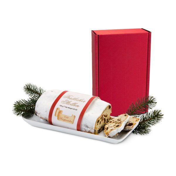 Präsenteset Christstollen im roten Geschenkkarton