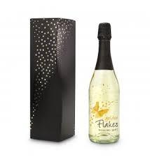 Bedruckte Sekt-Flasche mit bedruckter Verpackungs-Box
