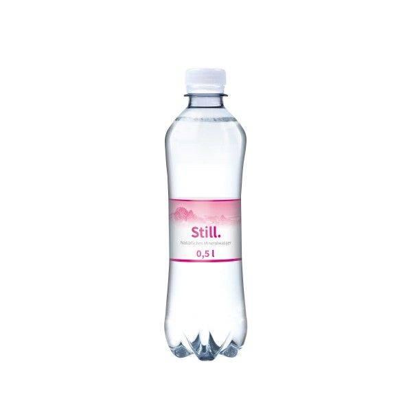 500 ml Wasserflasche Slimline still