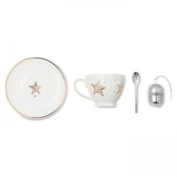 MINNA Teetassen-Set aus Keramik Unbedruckt