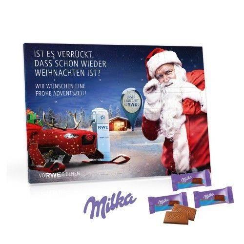 Tisch-Adventskalender mit Milka Schokolade