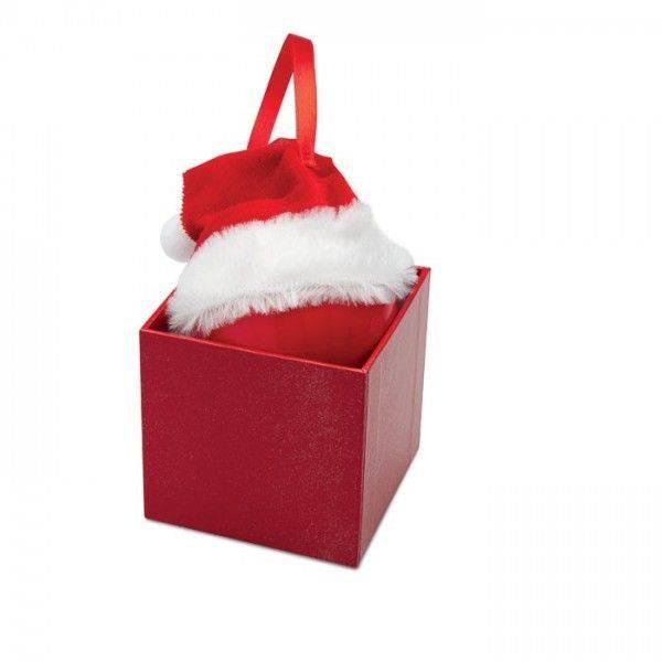 BOLIHAT Weihnachtsbaumkugel mit Nikolausmütze Unbedruckt