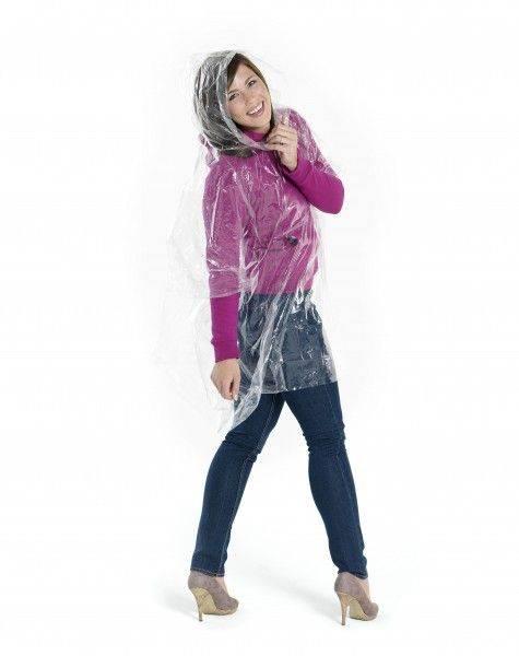 Einweg-Regenponcho mit Hülle