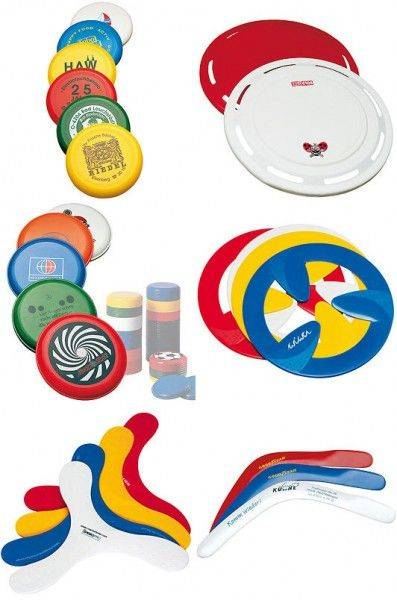 frisbees