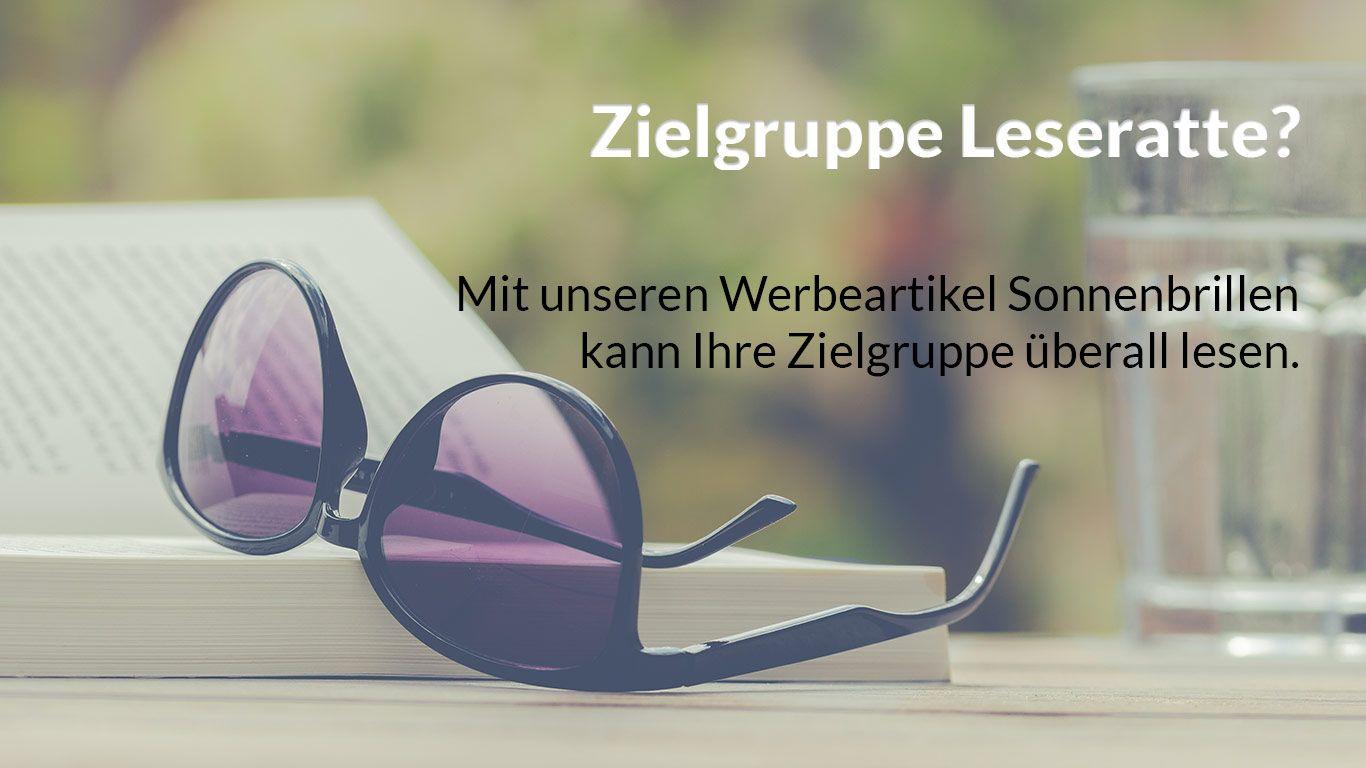 Werbeartikel Sonnenbrillen für die Zielgruppe Leseratte