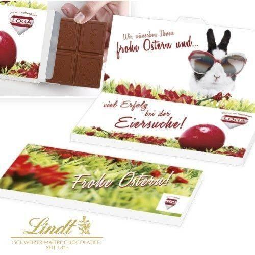 Grußkarte mit Schokoladentafel von Lindt