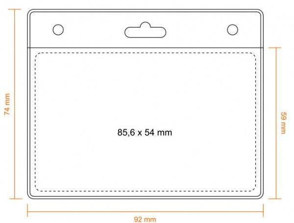 Kartenhalter 85,6 x 54 mm