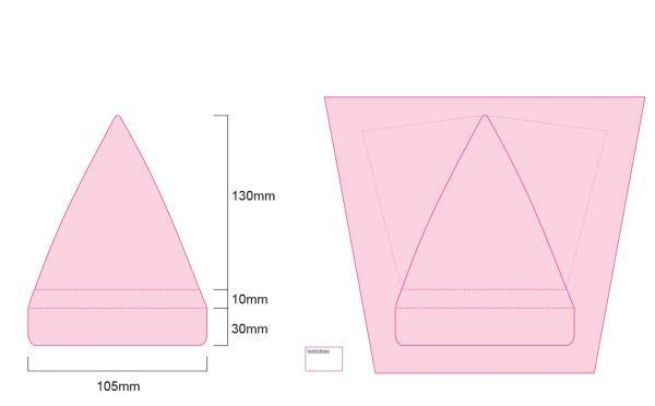 Mikrofaser-Pyramide