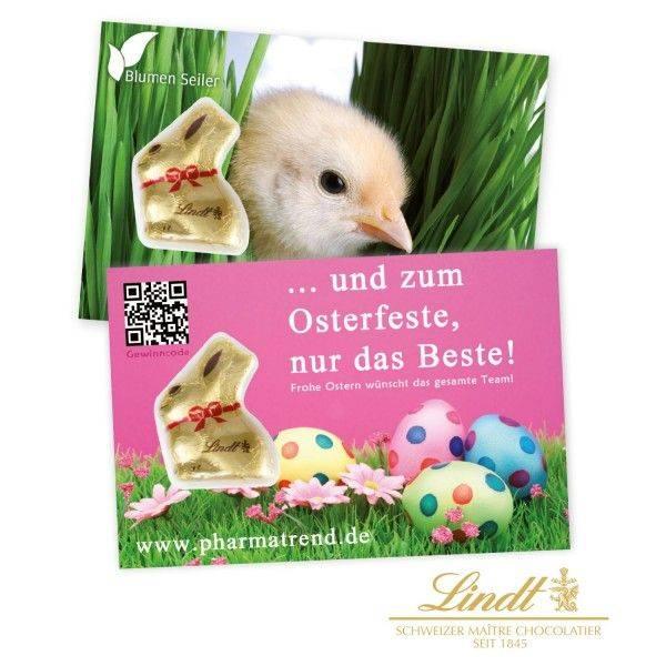 Promotion-Card mit Goldhase von Lindt